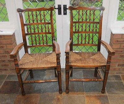 Set 6 Spindleback Kitchen Dining Chairs Spindle 10