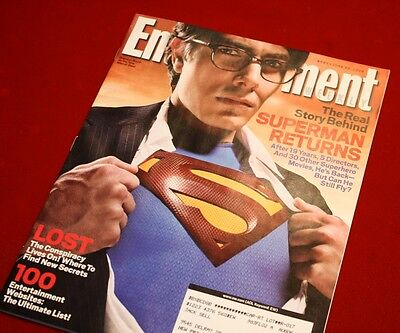 SUPERMAN Signed AUTOGRAPHS Routh, Spacey, Bosworth, Langella + KRYPTONITE Prop 12