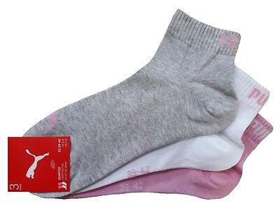 3 Paar PUMA Invisible Quarter - Sneaker Socken Kurzschaftform 1/4 Schaft 9