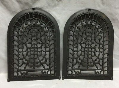 One Antique Arched Top Heat Grate Grill Stars Flowers Pattern Arch 10X14 634-18C 5