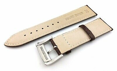 Brown 22mm Genuine Leather Strap/Band fit EMPORIO ARMANI watches + Pins and Tool 3