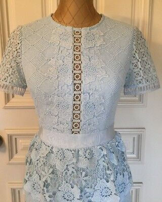 Ted Baker Dixa Layered Lace Skater Dress Size O Usa 2 Color