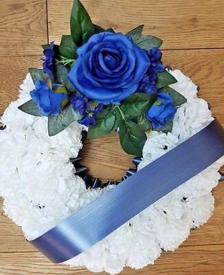 Silk Artificial Funeral Flowers Wreath/Memorial/Grave Tribute Wreaths 7