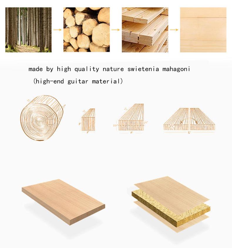 17 Key Kalimba Thumb Piano High-Quality Wood Body Sanza Mbira Musical Instrument 2