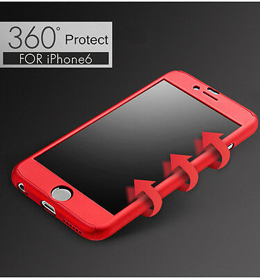 Hybrid 360° Tempered Glass + Acrylic Hard Case Cover For iPhone 6 7 6s 7 Plus 5s 8