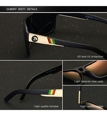 DUBERY Men Women Polarized Sunglasses Outdoor Sport Driving Fishing Shades UV400 2