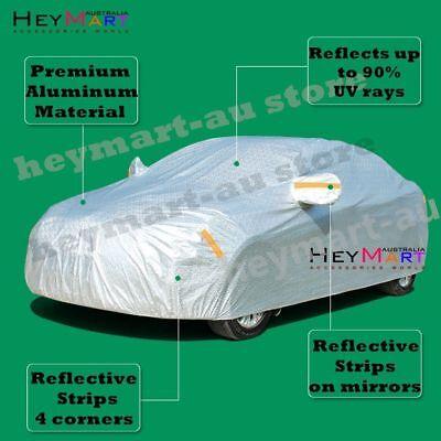 5 size Aluminum waterproof car cover rain resistant UV dust protect car cover 3