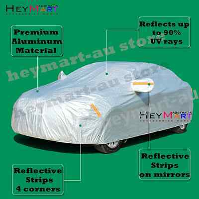 Aluminum waterproof Double thicker n car cover rain resistant UV dust car cover 6