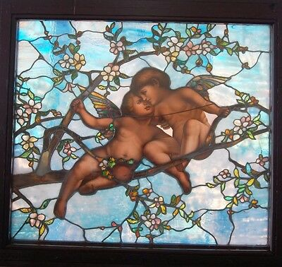 Tiffany Favrile Glass Angel Window, Stained Glass #7715 5