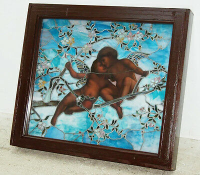 Tiffany Favrile Glass Angel Window, Stained Glass #7715 2
