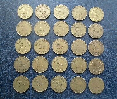 Bell Fruit 5p Tokens - Choose Your Amount Required