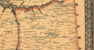 Map of Kent County Maryland c1860 repro 24x24 4