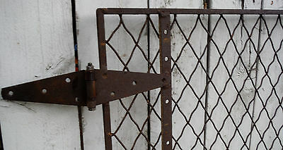 """Antique Old Rustic Vintage Gate 60"""" X 49"""" -Great For Garden,yard, Or Animal Pins"""