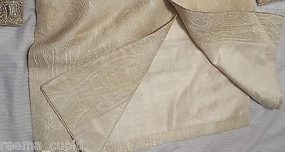 Daminis Mens Groom Wedding Wear Cream Sherwani Small Used 40 indian pakistani 4