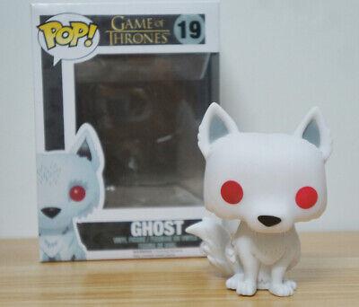 TV Game of Thrones Direwolf Toys Grey Wind/Nymeria/Ghost PVC Pop Figure Keychain 8