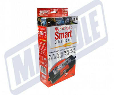 MAYPOLE Electronic Car Battery Charger 4 AMP - Fast/Trickle/Pulse Modes, MP7423 7