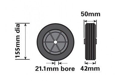Black Plastic Replacement Jockey Wheel Fits Mp437 155Mm Maypole Genuine Mp226 7