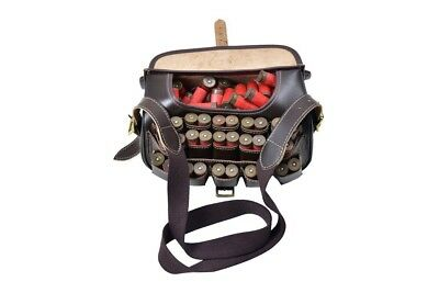 1 P New Leather Cartridge Bag With Beautiful Design Attached Brass Buckles