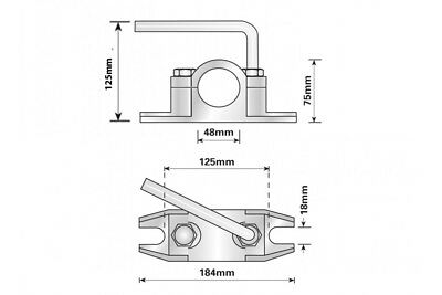 Jockey Wheel Steel Clamp 48Mm Serrated Ribbed Trailer Prop Stand Maypole Mp97455 2