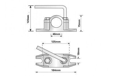 Serrated Steel Clamp 48Mm Ribbed Trailer Jockey Wheel Prop Stand Maypole Mp97455 2