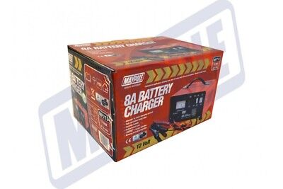 Maypole Heavy Duty Steel 8A 8 Amp 12V Car Van Tractor Battery Charger #MP713 3