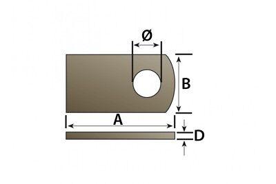 2 x 76MM x 95MM WELD ON ANTILUCE PLATE TRAILER GATE FENCE DOOR MAYPOLE MP840B 6