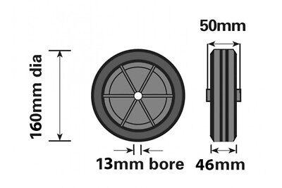 Replacement Jockey Wheel Red Plastic Fits Mp431/432 160Mm Genuine Maypole Mp430 2