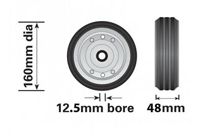 Genuine Maypole Spare Steel Wheel For Small Telescopic Jockey Wheel 160Mm Mp429