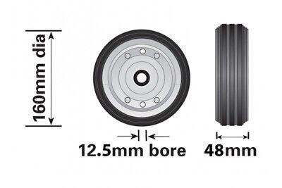 Steel Wheel For Small Telescopic Jockey Wheel 160Mm Genuine Maypole Mp429 2