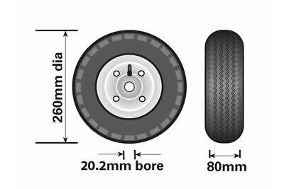 Pneumatic Jockey Wheel Replacement For Caravan Boat Trailer Maypole Mp2291 7