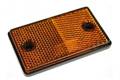 2x E-Approved Amber Orange Rectangular Reflectors Trailer Caravan Side Marker