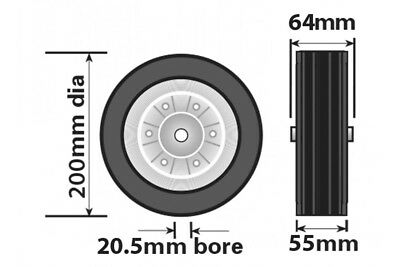 Jockey Wheel Pu Steel Fits Mp9741 Mp9743 Mp9744 200Mm Genuine Maypole Mp97435 2