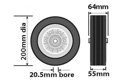 Jockey Wheel Steel Fits Mp9741 Mp9743 Mp9744 200Mm Genuine Maypole Mp97435 2