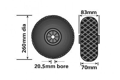 Jockey Wheel Pneumatic Rubber Plastic Fits Mp437 260Mm Genuine Maypole Mp229 2