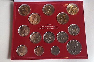 2011 United States Mint Uncirculated Coin Set Denver Philadelphia 28 Coins 4