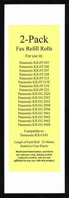 Black 15-pack Thermal Fax Roll Compatible with the Panasonic KX-FA91 KXFA91 FA91