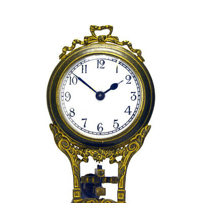 German Style Junghans Brass Elephant Figure 8 Day Swinging Swinger Clock 7