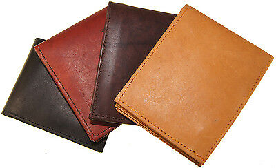 1 of 3free shipping mens genuine cowhide leather creditid card holder bifold wallet slim purse gift - Bifold Card Holder