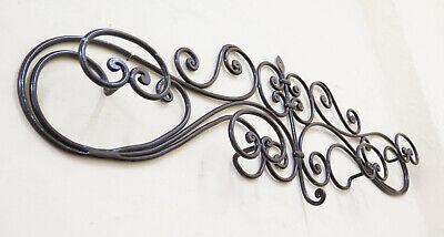 Attaccapanni appendiabito a 3 posti in ferro battuto largo 88 cm Arredo Ingresso