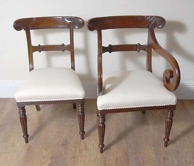 10 English William IV Dining Chairs Regency Chair 11