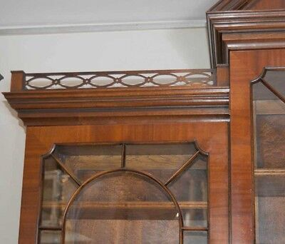 Mahogany Victorian Breakfront Bookcase Gothic Bookcases Furniture 6