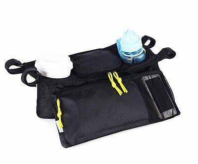 Pram Organiser Pushchair Stroller Buggy Cup Bottle Drink Food Holder Storage Bag
