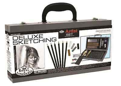 Deluxe Sketching Box Set Drawing Pad Pencils Pastels Charcoal Mannequin Sket2000 3