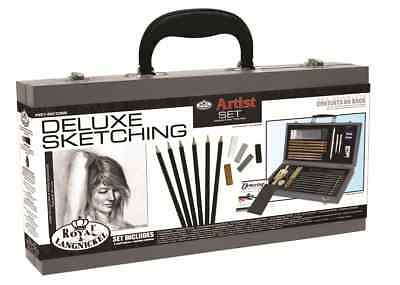Deluxe Sketching Box Set Drawing Pad Pencils Pastels Charcoal Mannequin Sket2000 6