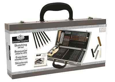 Deluxe Sketching Box Set Drawing Pad Pencils Pastels Charcoal Mannequin Sket2000 4