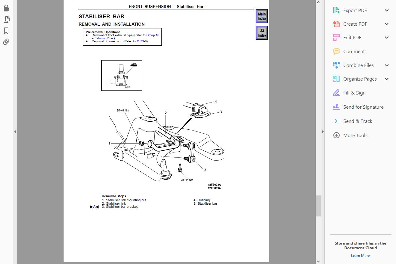 Workshop Manual Service Repair Guide For Mitsubishi Magna 1996 2005 Wiring Eur 10 09 Picclick Fr