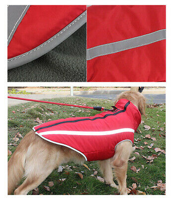 Waterproof Warm Winter Dog Coat Clothes Dog Padded Fleece Pet Vest Jacket Large 9