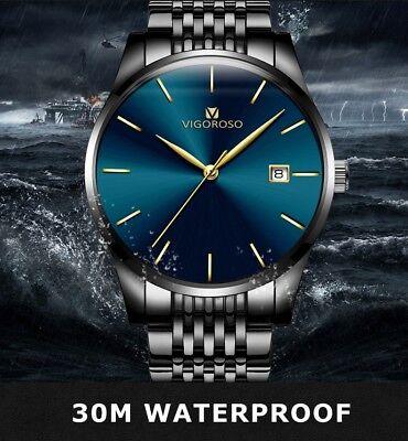 Men's Waterproof Military Sport Date Analog Quartz Wrist Watch Business Watches 10