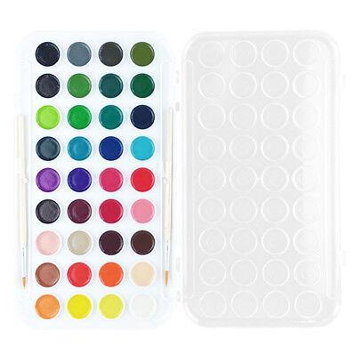 Semi-Dry Watercolour Palette Stylist 36 Colors & Brush Good Pigment Artist Paint