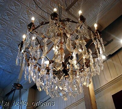 French Crystal Chandelier 15 Lights. 5 Ft Tall , Must See!! 11